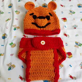 Crochet Character Beanie and Diaper Cover