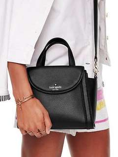 Kate Spade Sling Bag Cobble Hill Small Adrien Crossbody /Satchel Black Leather Satchel