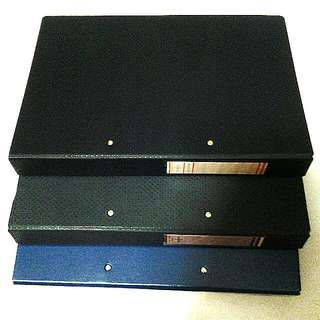 Blue Hard Cover Files