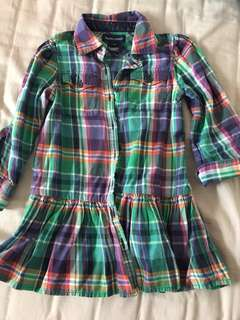 Polo Ralph checked dress 3T