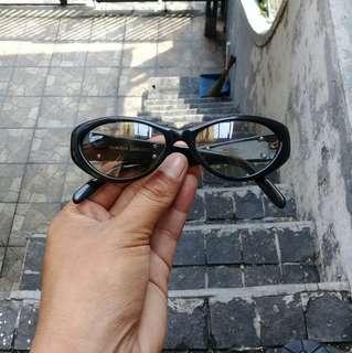 Claudia Carlotti Cat Eye Sunglasses Gold Italy Retro Vintage AUTHENTIC