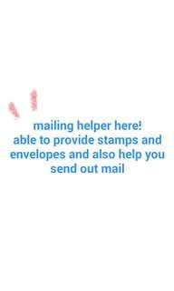 mailing helper here!