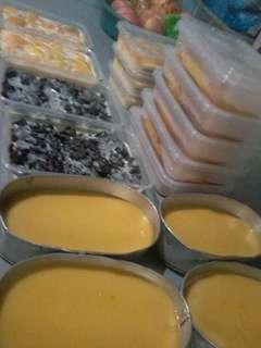 Leche Plan, Ube Halaya, Fudgee Cake and Mango Graham