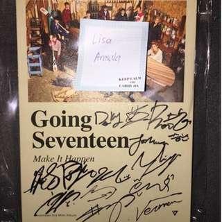 Going Seventeen bimae/promo signed album