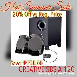 Buy this Creative SBS A-120 2.1 Multimedia Speaker & Get 20% Off vs Regular Price.
