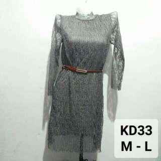 Grey laced dress