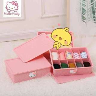 Hello Kitty Panty Socks Organizer Divider Pink Storage Box