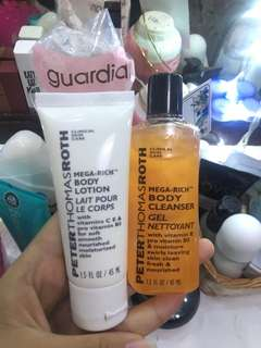 body lotion and body cleanser