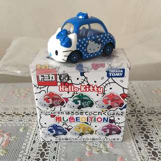 全新Takara Tomy Hello Kitty Dream Car Color Edition Blue彩色夢幻迷藍色車仔