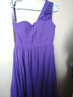 Purple formal long dress