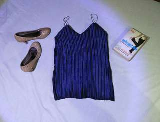 SALE!!!!! PLEATED BLOUSE BLUE