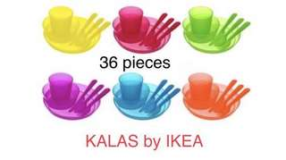 Ready Stock IKEA KALAS SET 36 PIECES