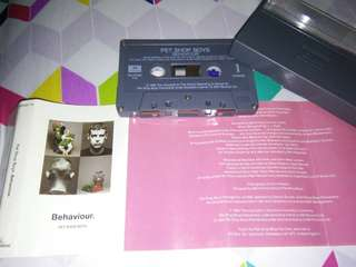 Pet Shop Boys behaviour cassette Singapore rare