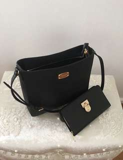 Michael Kors handbag + wallet