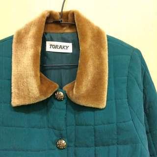 🚚 近全新🌸超美孔雀綠鋪棉古著外套