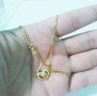 Saudi Gold 18k Necklace (❤)