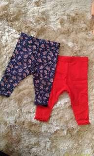 2pcs Legging Mothercare (6-9 mos)