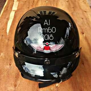 Helmet Mhr iii 125z,125zr,Rxz,Ex5,Kawasaki,Y15zr,Modenas,Lc135.