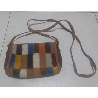 Vintage Patchwork Leather Sling Bag
