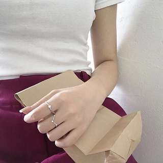 🚚 《早衣服》花現4月🌹堅持個性做自己時尚百搭鋯石指節戒開口戒指組(預)