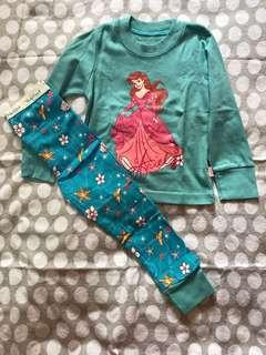 Blue Ariel Pyjama Size 2T