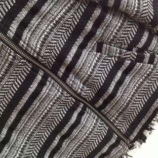 Size 10 Black & White Knit Suit Blazer or Jacket