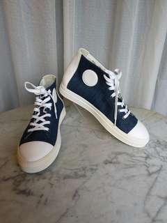 Pierre Hardy Denim Hi Top Shoes