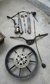 Yamaha 125z set fork disc brake.