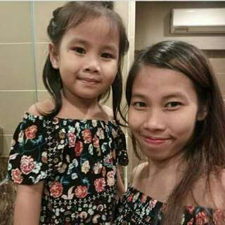 Mother and daughter twinning blouse