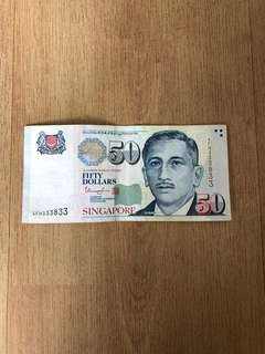 $50 Singapore Portrait Note