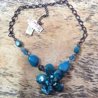 Blue Flower Necklace from Japan