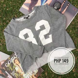 Cropped Gray Pullover