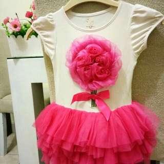 Dress tutu anak pink