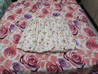 REPRICED! White Floral Flowy Skirt