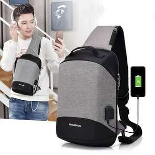Anti-theft bag New Design With Usb data wire and headset wire 13.5 inch