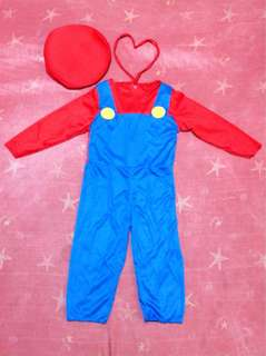 Mario costume, size 11, fits 3t-4t