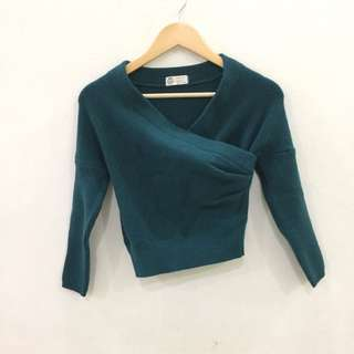 Room8008 Green Knitted Top