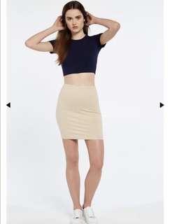 Bardot Chloe Mini Skirt - Nude
