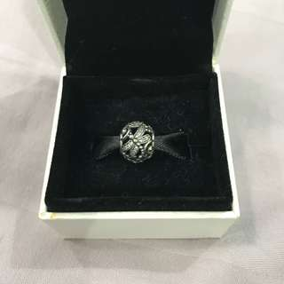 Authentic Pandora Dragonfly Meadow Silver Charm