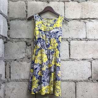 Repriced! Printed Garterized Dress