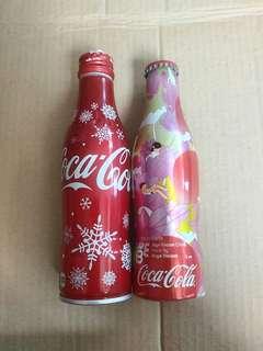 絕版 日本版 及 2008年 西班牙版 鋁樽 珍藏 特別版 可口可樂 共2枝 COKA COLA