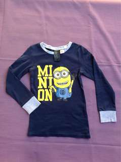 H&M Minion longsleeves shirt, 4-6Y