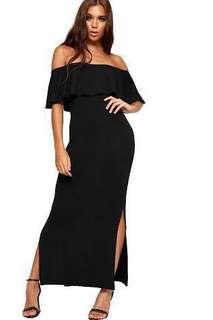 Repriced!!! Off Shoulder Black Dress