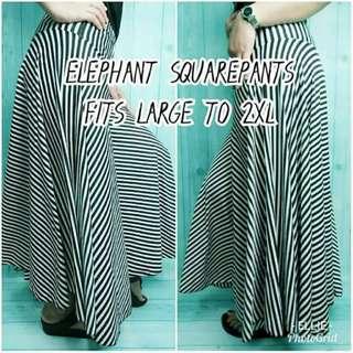 Women Ladies Trendy Fashion Elephant Squarepants Plain Printed