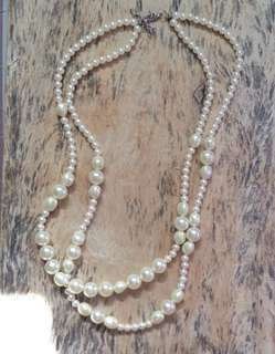 Double Pearl Necklace from Japan
