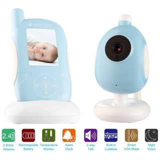 Vitovill 2.4 Inch Wireless Digital Video Baby Monitor 2 Way Talk with Night Vision, 4 X Digital Zoom and Temperature Monitoring