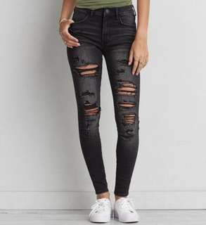 AE Ripped Jeggings (size 0)