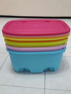Colourful Storage Box with Wheel