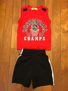 Boys Basketball Sport Top and shorts!!
