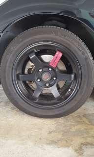 """Dekit sale - Volks Racing 16"""" rims and tyres"""